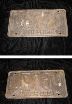 Vintage Metal License Plate 1930 Penna U6770 - $28.99