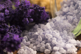 Organic loaded bath salt, Relaxing Lavender Sage. Large - $18.00
