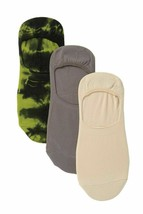 Hue Women's Hidden Liner Socks Assorted Tie Dyed Olive One Size 3 Pair Pack $16 image 2