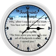 "Footprints in the Sand Homemade 8"" Wall Clock w/ Battery Included - $23.97"