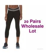 20 Pairs Wholesale Lot Everlast Capri Cropped Yoga Pants S & M Black / G... - $148.40