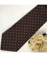 Ralph Lauren Polo Brown Print men's silk business tie - $14.95