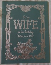 American Greetings To My Wife Booklet Birthday Card 1964 Used - $4.99