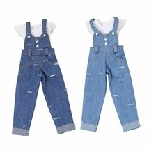 Jumper Pants Doll Clothes Set Denim Jeans Outfit Kids Girl Toy Accessori... - $27.99+