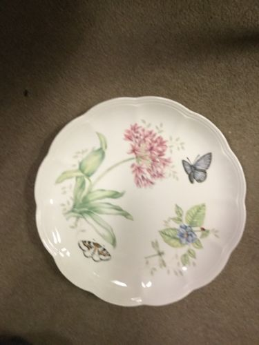 "Lenox Butterfly Meadow Eastern Tail Blue 11"" Plate Flower And Butterfly Design"