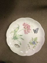 "Lenox Butterfly Meadow Eastern Tail Blue 11"" Plate Flower And Butterfly Design image 1"