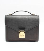 Auth Louis Vuitton Hand Bag Black Louis Vuitton EPI Leather Flap Logo LV... - $731.61