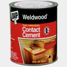 New! DAP WELDWOOD High Strength Rubber The Original CONTACT CEMENT 1 Qua... - $25.99
