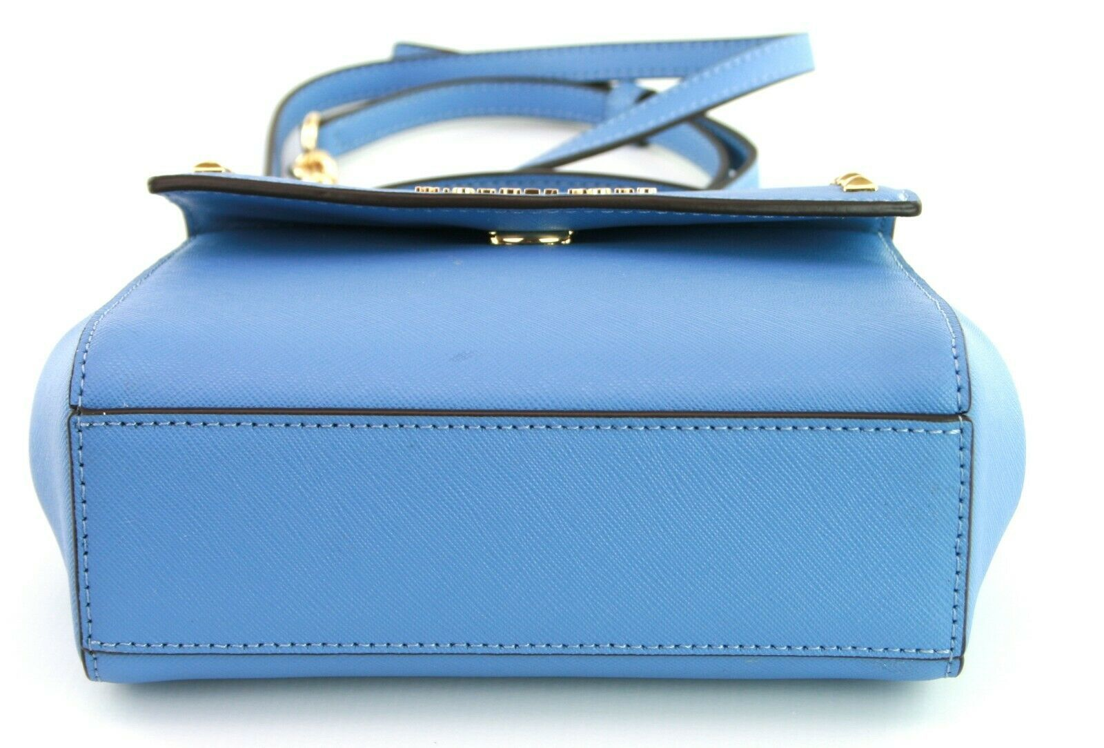 Michael Kors Cross Body Bag Karla Leather Small Handbag French Blue RRP £200 image 4