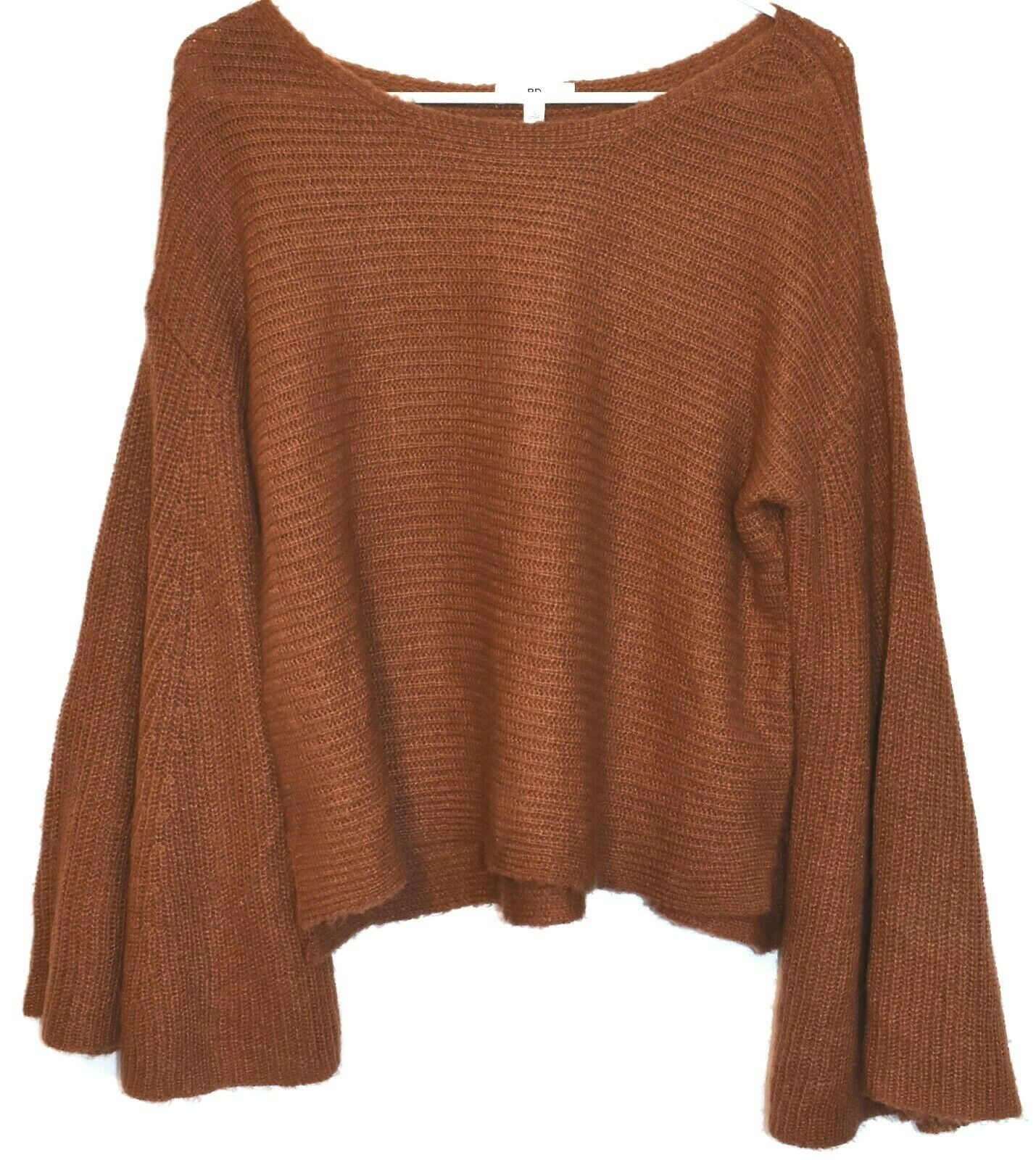 BP. Nordstrom Women's Oversized Flared Long Sleeve Brown Knit Sweater Size XS