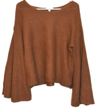 BP. Nordstrom Women's Oversized Flared Long Sleeve Brown Knit Sweater Size XS image 1