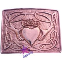 Highland Kilt Belt Buckle Claddagh pattern Copper Antique/Claddagh Belt ... - $12.89