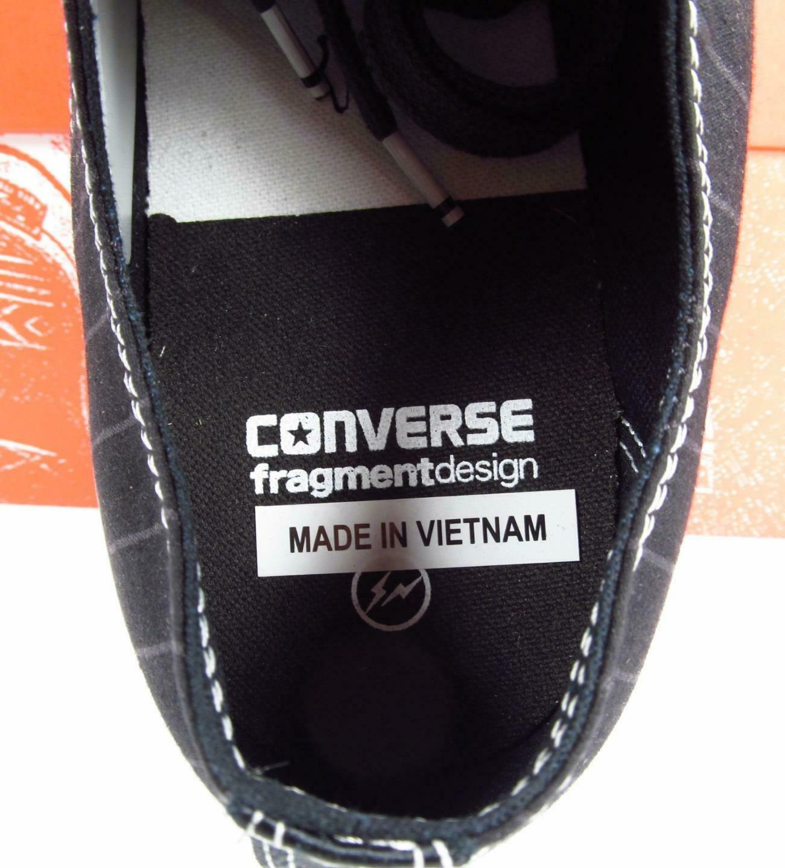 Converse x Fragment Design Chuck Taylor CTAS 70 Black Pinstripe 156451C Men's 11