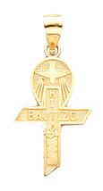 Mi Bautizo Croix - Baptême Croix 14k or Jaune Résistant - mi Bautizo 14k Or - $110.92
