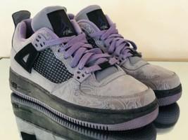 Nike AFJ 4 Laser Cool Grey Black-Ink Youth Sneakers 365370-001 Size 7Y - $40.86