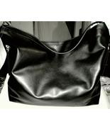 Donna Karan Large Tote Sac Shoulder Bag Cashmere Collection Black New Wi... - $23.00