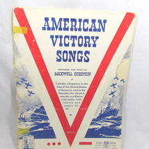 11 American Victory Songs Vintage Song Book 1942 Music Piano Vocal 18 Pages - $14.80