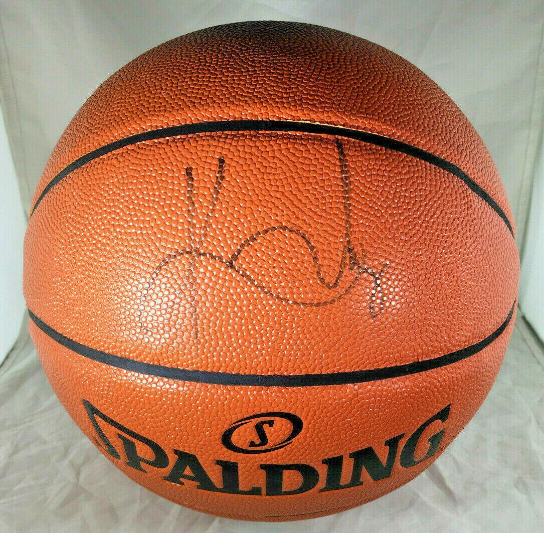 KYRIE IRVING / BROOKLYN NETS / AUTOGRAPHED FULL SIZE NBA LOGO BASKETBALL / COA