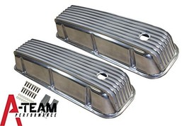 A-Team Performance BBC BIG BLOCK CHEVY TALL FINNED POLISHED ALUMINUM VALVE COVER