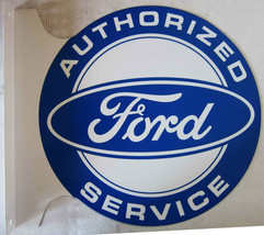 "Authorized FORD Service Flange Sign 12"" Diameter - $60.00"