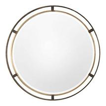 Uttermost Round Iron Frame Wall Mirror in Bronze - $310.20