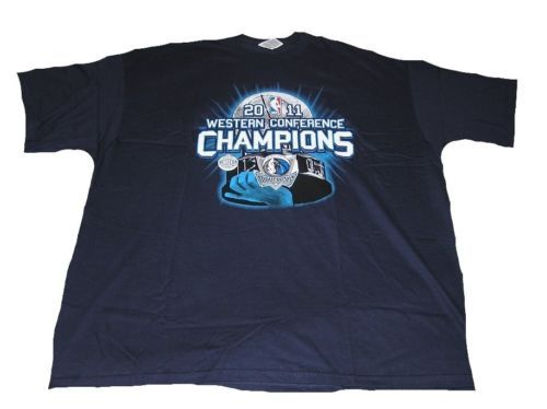 3X Dallas Mavericks Shirt Men's Basketball Tee Big & Tall 2011 Conference Champs