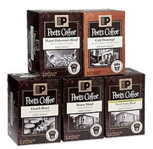 Peet's Coffee Single Cups Variety Sampler- 5 Boxes of Single Cup - $65.33