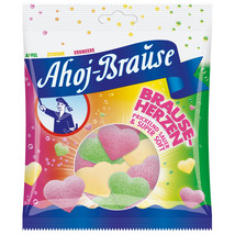 FRIGEO Ahoj Brause Hearts CHEWY Sour Candies -200g -Made in Germany - $5.83