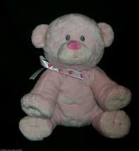 Ty 2012 Pluffies Amore Hellrosa Teddybär Herz Bogen Plüschtier Spielzeug - $15.04