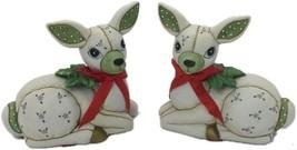 Vintage 1987 Lefton China Christmas Reindeer/ 06256 Geo. Z. Lefton Colle... - $49.99