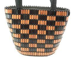 Wood Bead Purse Bucket Type image 2