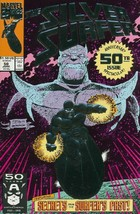 The Silver Surfer (1987) #50 VF/NM 1991 Marvel Silver Embossed Cover vs ... - $8.81