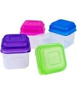 Midwood 4 pack Square Snack Container with Lid 3.6oz (BZ106-53) - $3.99