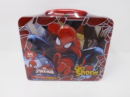 Cardinal Marvel Spider-Man Puzzle in Lunch Box Tin - 48 Piece - $16.14