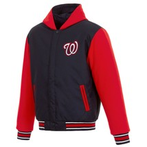 MLB Washington Nationals  JH Design Two Tone Reversible Fleece Hooded Jacket - $104.99