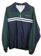 Speedo Sport Systems Men's Green / Navy Blue Zip Lined Nylon Jacket Size... - $22.72