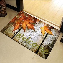 """Non-Slip Home Fashions Fall Welcome Vinyl Back Painting Doormat 30""""X18"""" - $12.16"""