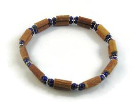 Lapis Lazuli and Hazelwood Bracelet - $29.00 - $48.00