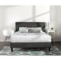 DARK GREY FULL UPHOLSTERED TUFTED PLATFORM BED ... - $302.54