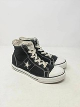 Converse One Star Kids Sneaker Shoes Black White Lace Up High Top 4.5Y - $19.79