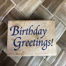 Stampcraft Happy Birthday Greetings 440E01 Classic C9 Rubber Stamp - $7.42