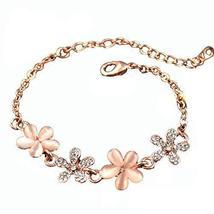 Jewelry Fashion Jewelry Amethyst Bracelet Heart-shaped Rose Gold Bracelet Hand