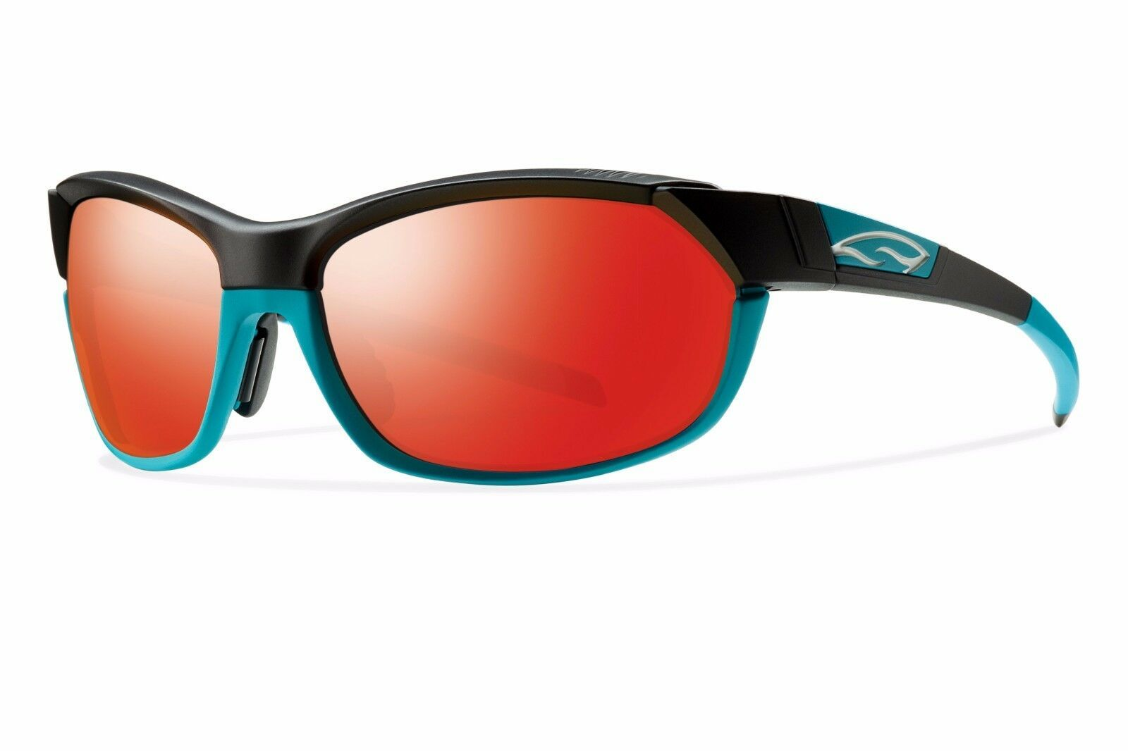 Primary image for SMITH OPTICS PIVLOCK OVERDRIVE SUNGLASSES BLACK TURQUOISE FRAME/ RED SOL X