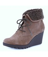 Donald J Pliner Maxxi Faux-Fur Suede Ankle Boot Bootie Taupe New 8/8.5/9... - $129.99