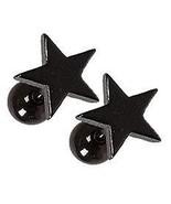 HYPOALLERGENIC Titanium Star Minimalist Earrings black - Unisex by Adora... - $19.98