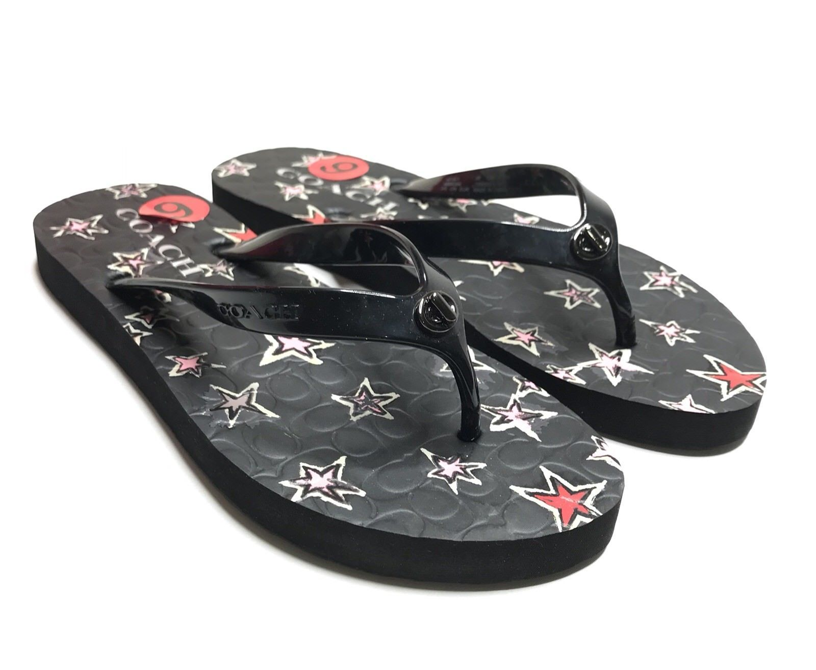 37b9a49e4 Coach Flip Flops NEW Women Size 5-6 Black and 30 similar items. 57