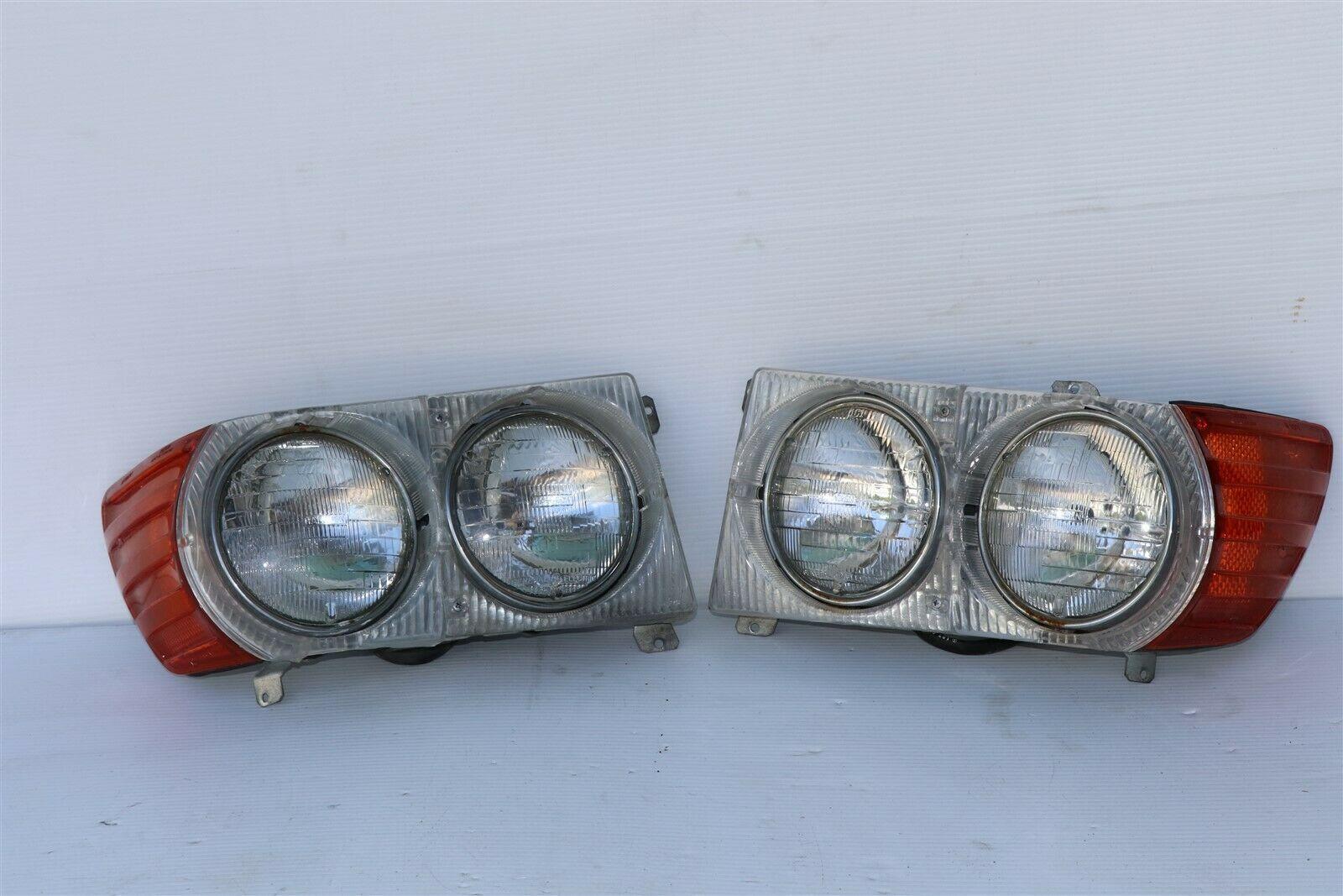 Mercedes W107 450SL 560SL USDM Headlights Headlight Assemblies Set