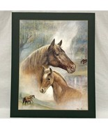 Ruane Manning Litho Horse Print Picture Matted SCAFA Tornabene Art Co 20... - $28.50