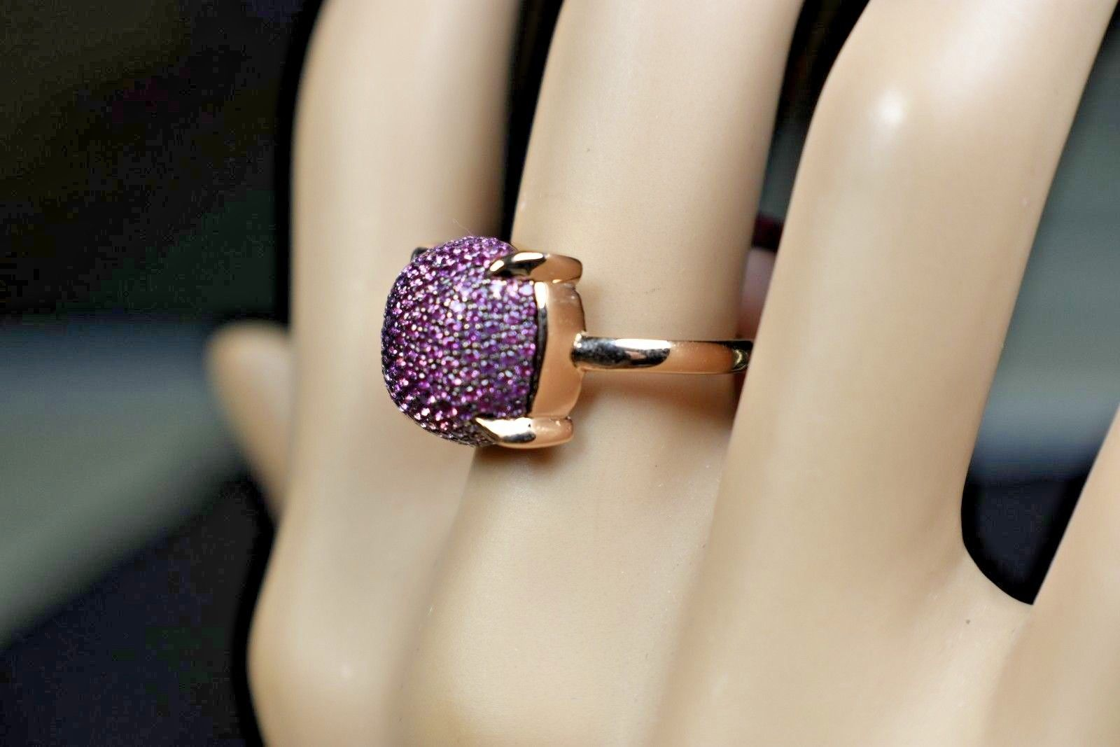 7a3815af4 57. 57. Previous. Tiffany & Co Picasso Sugar Stacks Pink Sapphire Pave' Ring  18K Gold MINT ($5000. Tiffany ...