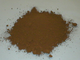 385-01 Umber Brown Concrete Cement Powder Color 1 lb. Makes Stone Pavers Bricks image 1